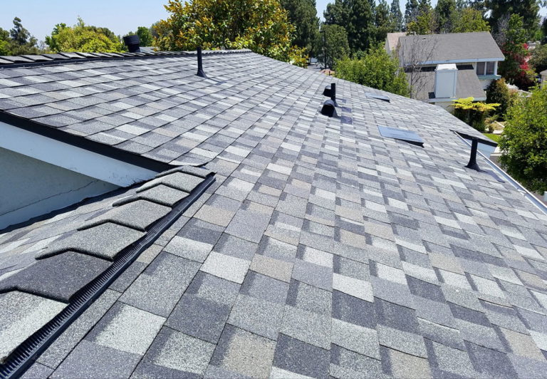 Different types of asphalt roofing shingles.